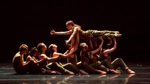 """The company performs Lang's powerful """"Thousand-Yard Stare."""" (Photo by Todd Rosenberg)"""
