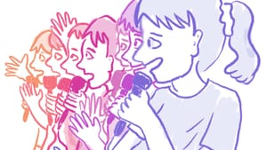 What happens when comedy takes over every part of your life? (Illustration by Hannah Kaplan for Broad Street Review.)