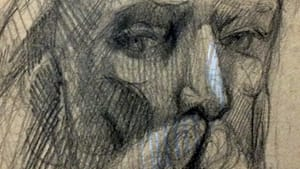 What was Rodin expressing? (The author's drawing of a Rodin portrait head, used by permission)