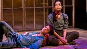 What music does he want? Joey McIntyre as Orsino and Hannah Rose Caton as Viola in Two River's 'Twelfth Night.' (Photo by T. Charles Erickson.)
