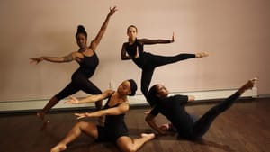 Spanning the globe in dance genres: the ensemble of Ujima. (Photo by Aliya Anderson.)