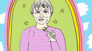 Le Guin and her work offered Hochman comfort when she most needed it. (Illustration by Hannah Kaplan for BSR.)