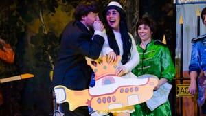 Morty Starr (Jamey DiLorenzo) & Esther Onostein (Rachael Silverbauer) in 'Very Beatles Purim.' (Photo courtesy Josh Silverbauer)