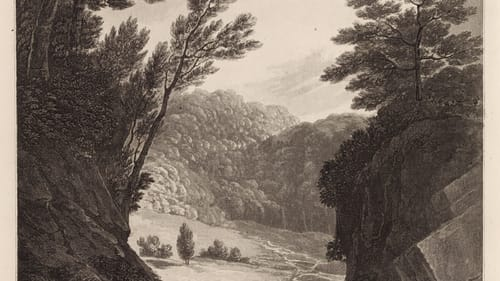 A time when people were a small part of the area: 'Conestoga Creek and Lancaster' in 1833, by Jacob Eichholtz. (Image courtesy of PAFA.)