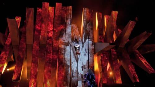 Wotan and the sleeping Brünnhilde in the Act 3 finale of Wagner's 'Die Walküre.' (Photo by Ken Howard/Met Opera.)