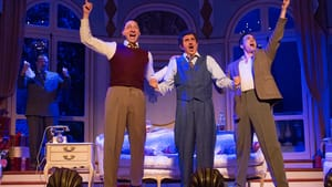They shine in comedy: Scott Greer, Ben Dibble, Frank Ferrante, and Jacob Tischler in the Walnut's 'A Comedy of Tenors.' (Photo by Mark Garvin.)