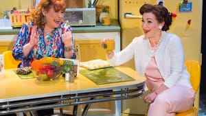 Whelan (left), Stern: Housewives can sing, too. (Photo: Mark Garvin.)