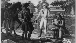 British spy John Andre, after the party. (Illustration via Creative Commons/Wikimedia)