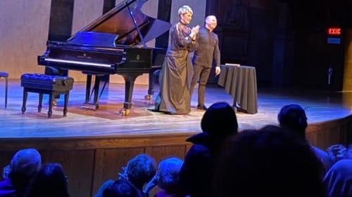 DiDonato and Nézet-Séguin take their bows in Princeton. (Photo by Dasha Koltunyuk.)