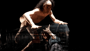 Dark and captivating: Rudy Caporaso and Susan Moses in 'The Witch of Edmonton.' (Image courtesy of REV.)