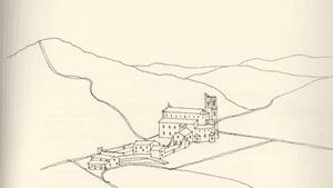 Abadia di San Antimo, from 'Odyssey'. (Art by Peter Kurt Woerner)