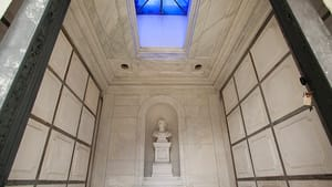 With its spacious quarters and skylight, the Drexel family mausoleum's interior seems to welcome visitors. (Photo by Ryan Collerd.)