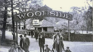 The entrance to Woodside Park. (Photo courtesy of East Falls Historical Society)
