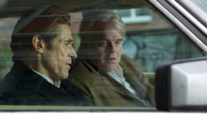"""Sacrifices and compromises: Willem Dafoe and Philip Seymour Hoffman in """"A Most Wanted Man"""" (Photo by Kerry Brown - © 2014 - Roadside Attractions)"""