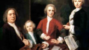 J.S. Bach (left) and three sons: Talk about a confusing family!