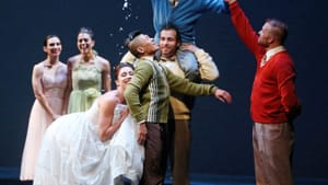 """""""A Trick of Light"""": comedic storytelling. (Photo by Bill Hebert, courtesy of Dance Affiliates [NextMove Series])"""
