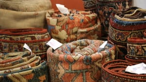 Antique rugs from the 2019 Antiques Show. (Photos by Carlos Alejandro.)