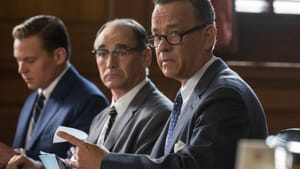 A court case with a foregone conclusion: Rylance and Hanks.
