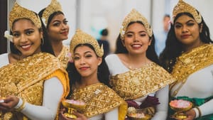 Cambodian American Girls Empowering, or CAGE, will perform as part of the Neighborhood Showcase. (Photo by Tony Kruth.)