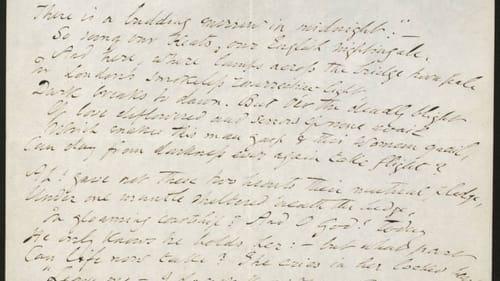 "ante Gabriel Rossetti, manuscript of sonnet ""Found."" (Image courtesy of Delaware Art Museum.)"