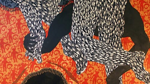 Embracing or confining? Marianela Orozco's 'Horizons.' (Image courtesy of Delaware Art Museum.)