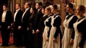 Awaiting the guests in 'Downton Abbey': Bowing, scraping— and job security.