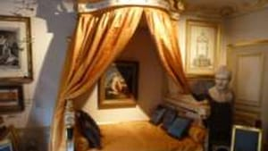 Napoleon's bed was fit for an emperor, but not necessarily for sleeping.