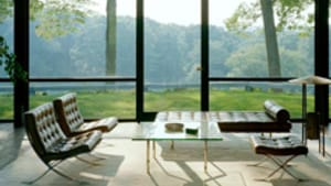 Philip Johnson's glass house: Great views, but no storage space.