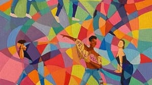 A colorful mixed-media collage of illustrating photographs of salsa dancers.