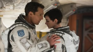"""Undertaking a secret journey: McConaughey and Hathaway in """"Interstellar."""" (Photo by Melinda Sue Gordon - © 2014 Warner Bros. Entertainment, Inc. and Paramount Pictures Corporation. All Rights Reserved.)"""