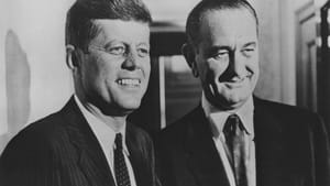 Kennedy and Johnson during the 1960 campaign. (Photo via jfklibrary.org)
