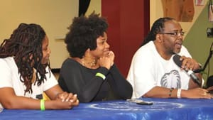 Celebrating melanin: panelists at a past year's Locks Conference event. (Image courtesy of the Locks Conference.)