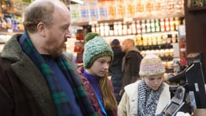 """Another kind of modern family: Louis C.K., Ursula Parker, and Hadley Delany in """"Louie"""" (© Copyright 2015, FX Networks.)"""