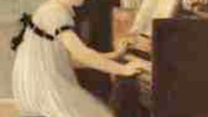 Meunier, 'First Piano Lesson': Why so unhappy?