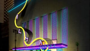 Kristen Robinson's proposed redesign of the Wilma Theater's facade.