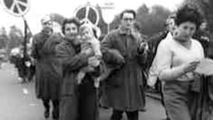 Peace demonstration, London, 1958: This was our war.