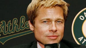 Pitt as Billy Beane: What money and machismo can't buy.