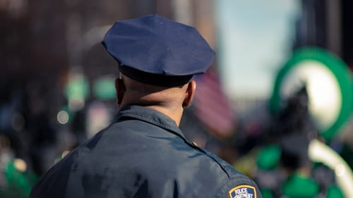 What lines do police cross on the job and inside themselves? (Photo by Jacob Morch via Unsplash.)