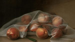 """""""Covered Peaches,"""" by Raphaelle Peale, who was America's first professional still-life painter."""