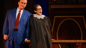 Brian Cheney and Jennifer Zetlan perform in OperaDE's comedy 'Scalia/Ginsburg.' (Photo by Moonloop Photography.)