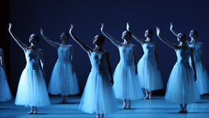 """Artists of Pennsylvania Ballet in """"Serenade,"""" choreography by George Balanchine © The George Balanchine Trust Photo: Alexander Iziliaev"""