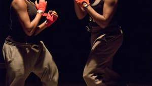 Pre-battle calisthenics: Jade Anouka (left) as Hotspur.
