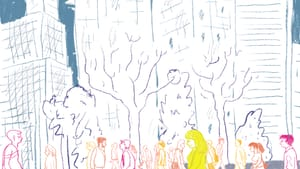If you need help in a crowd, what do you do? (Illustration by Hannah Kaplan, for Broad Street Review.)