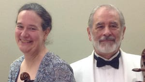 Nancy Bean, violin, and Lloyd Smith, cello, will host the mini-concert online. (Photo courtesy of 1807 & Friends)