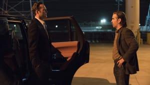 Yoda-speak and Batman whispers: Vaughn and Farrell. (© 2015 HBO)