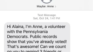 A new collective experience: when strangers check your (and your friends') voting plans. (Image courtesy of Alaina Johns.)