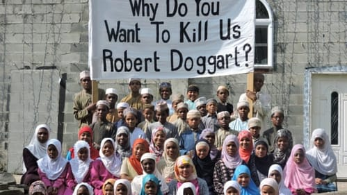 'White Fright' documents the attack on Islamberg. (Photo by David Sutcliffe.)