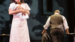 Charlie's first wife (Chrystal E. Williams) sings about Charlie (Lawrence Brownlee) abandoning her and their son. (Photo by Dominic M. Mercier)
