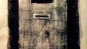 """""""Door of death row cell"""" by Arthur Tyler. Monotype. (Courtesy of the artist)"""